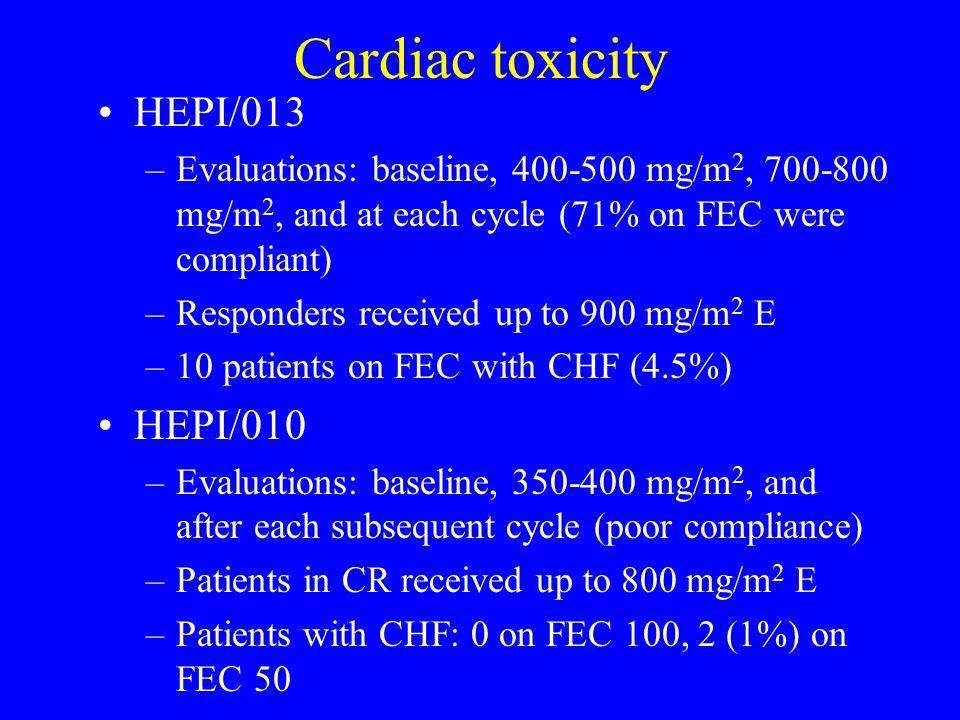 Cardiac toxicity HEPI/013 HEPI/010
