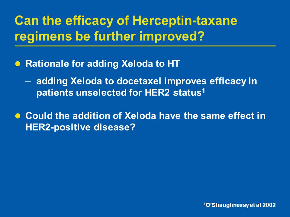 Can the efficacy of Herceptin-taxane regimens be further improved