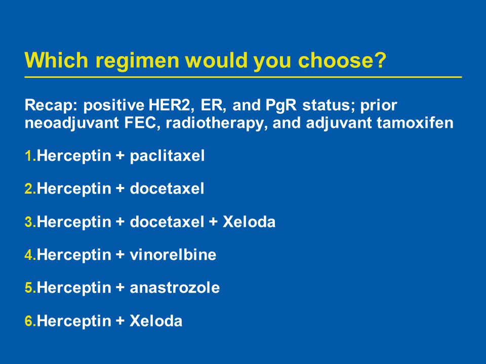 Which regimen would you choose