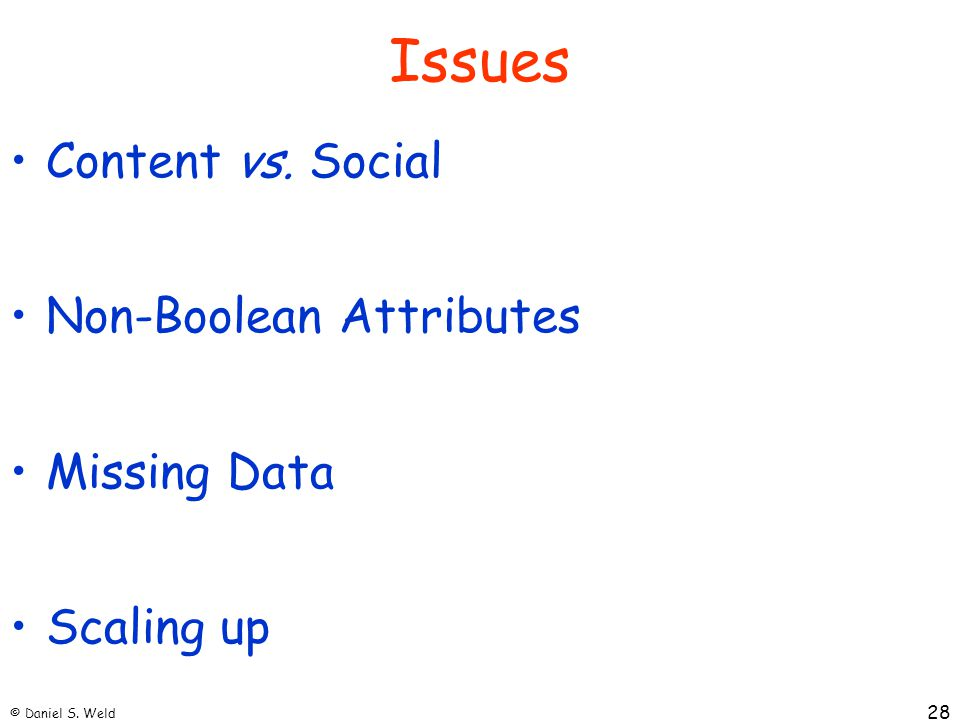 Issues Content vs. Social Non-Boolean Attributes Missing Data