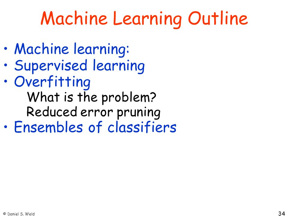 Machine Learning Outline