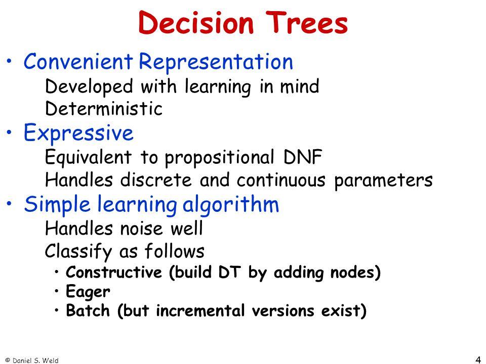 Decision Trees Convenient Representation Expressive