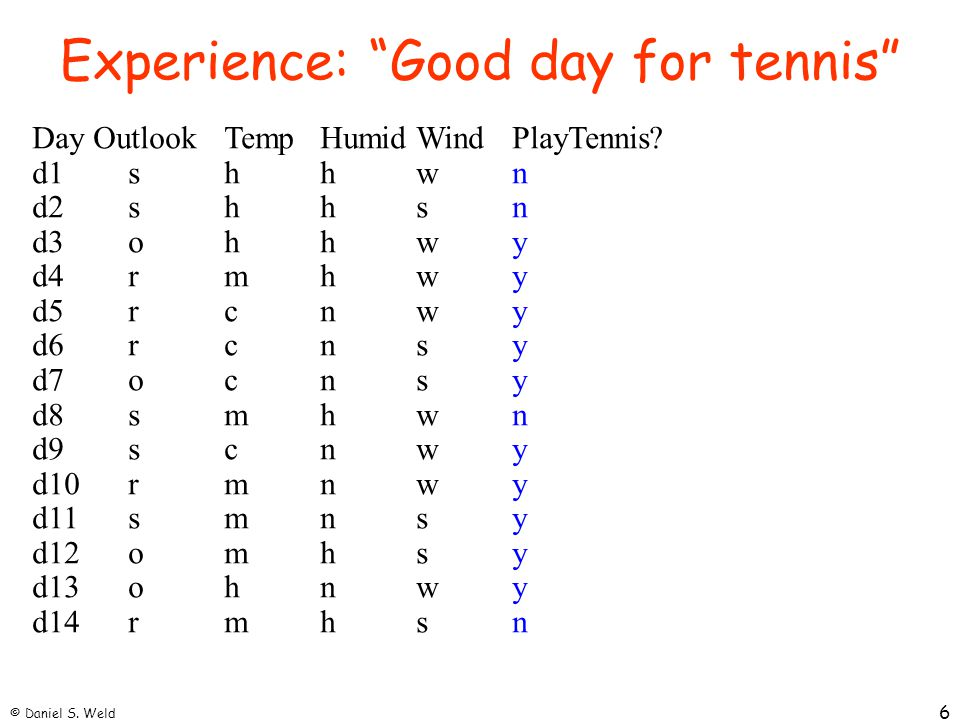 Experience: Good day for tennis