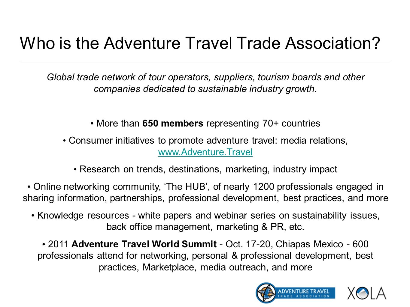 Who is the Adventure Travel Trade Association