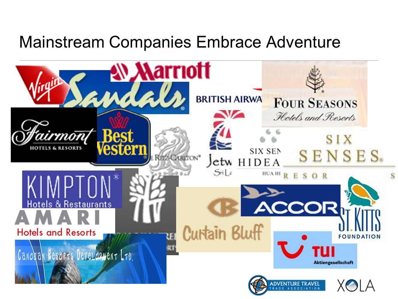 Mainstream Companies Embrace Adventure