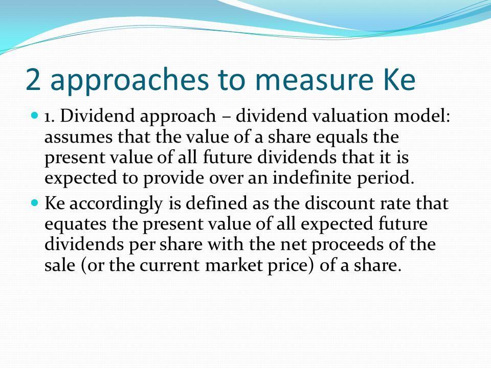 2 approaches to measure Ke