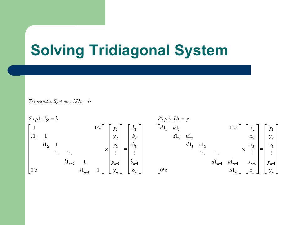 Solving Tridiagonal System