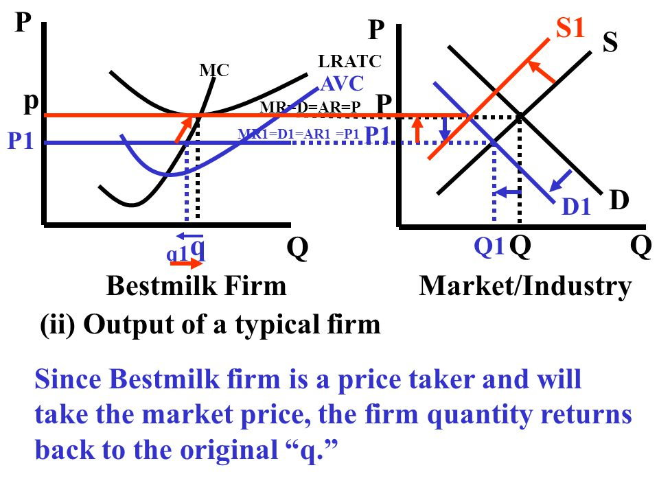 (ii) Output of a typical firm