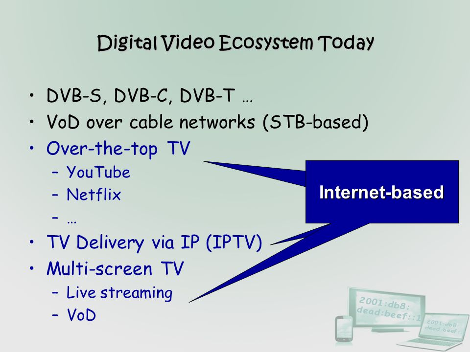 Digital Video Ecosystem Today