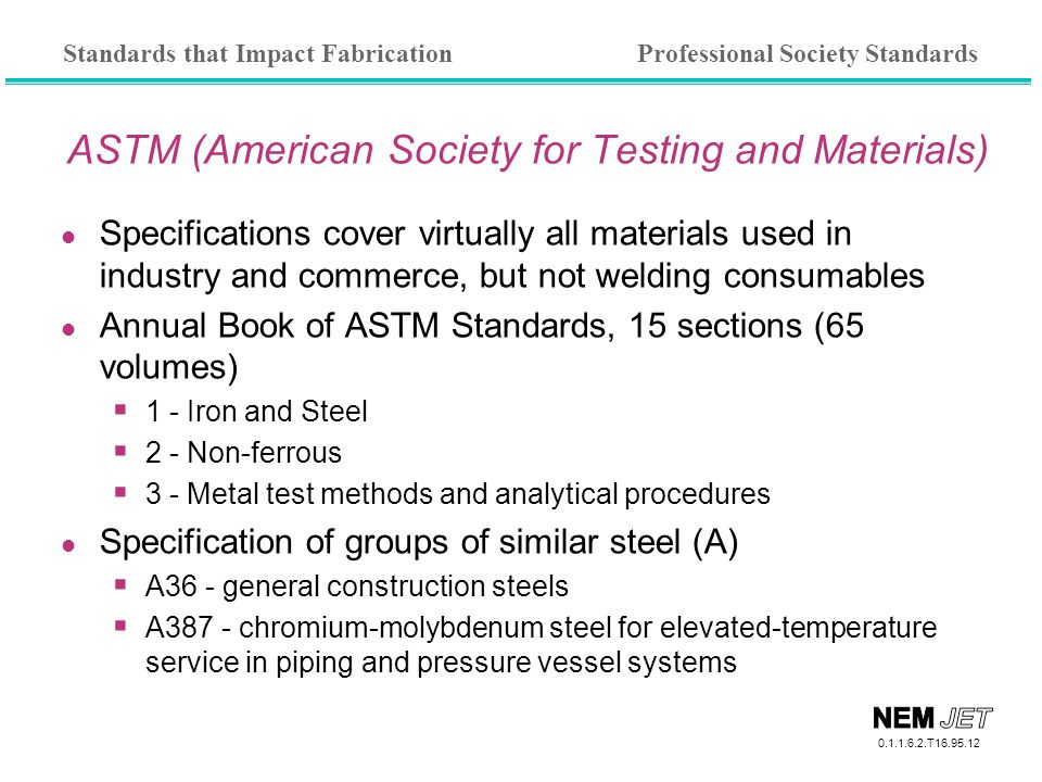 ASTM (American Society for Testing and Materials)