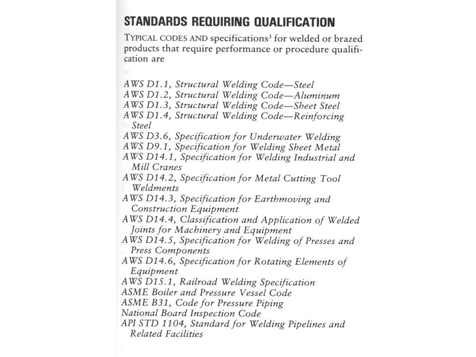 The list of standards above are some of the standards which require qualifications and certifications as part of their standard operating procedures.