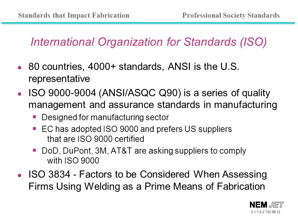 ansi and iso standards essay For example, the iso 9706 standard deals with paper's resistance to ageing a  summary of iso 9706 is here for any iso or ansi standard (with numerical.