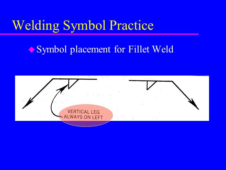 Welding Symbol Practice