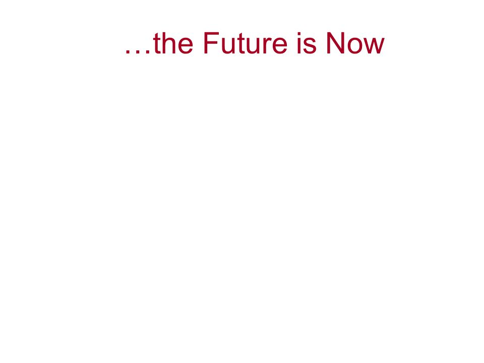 …the Future is Now Set A1 – Content Slide