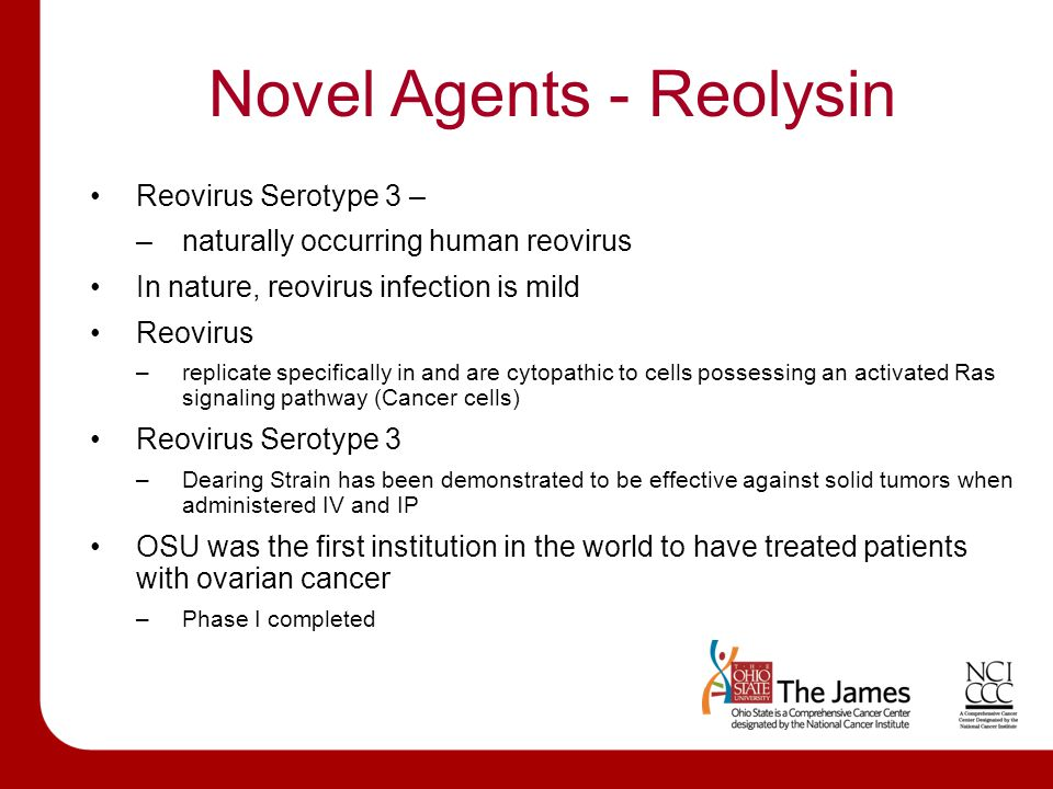 Novel Agents - Reolysin