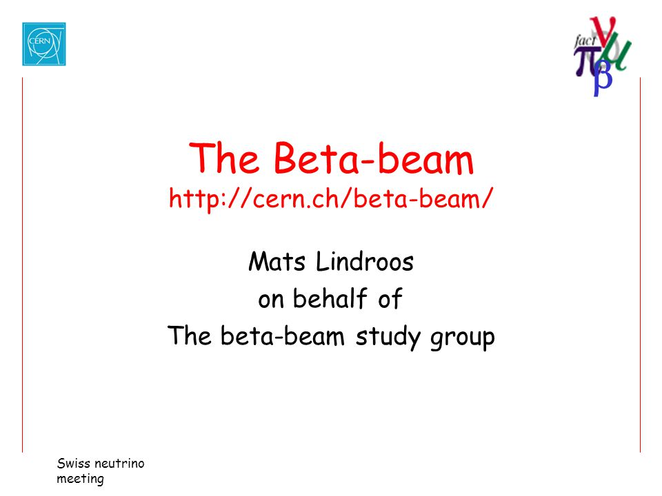 The Beta-beam