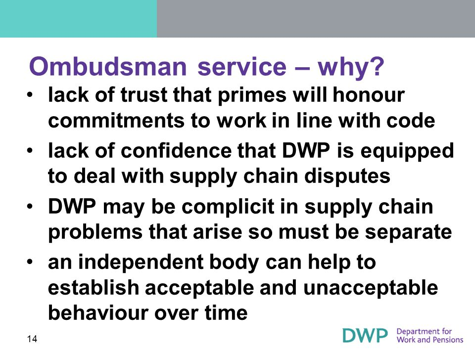 Ombudsman service – why
