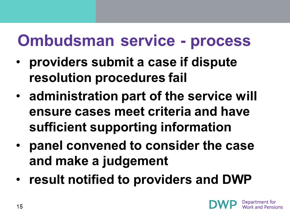 Ombudsman service - process