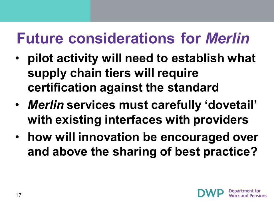 Future considerations for Merlin