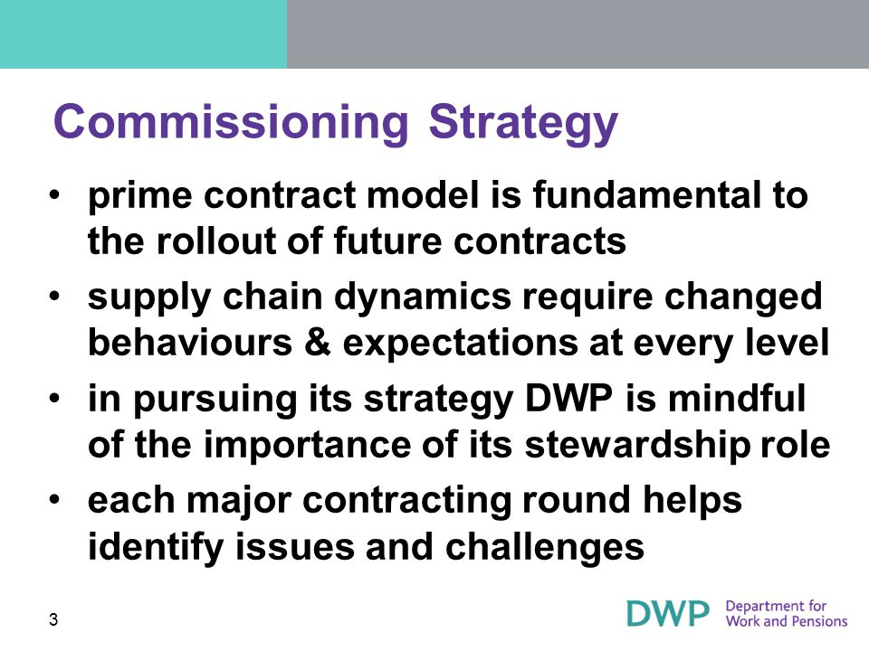 Commissioning Strategy