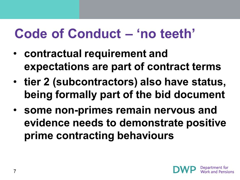 Code of Conduct – 'no teeth'