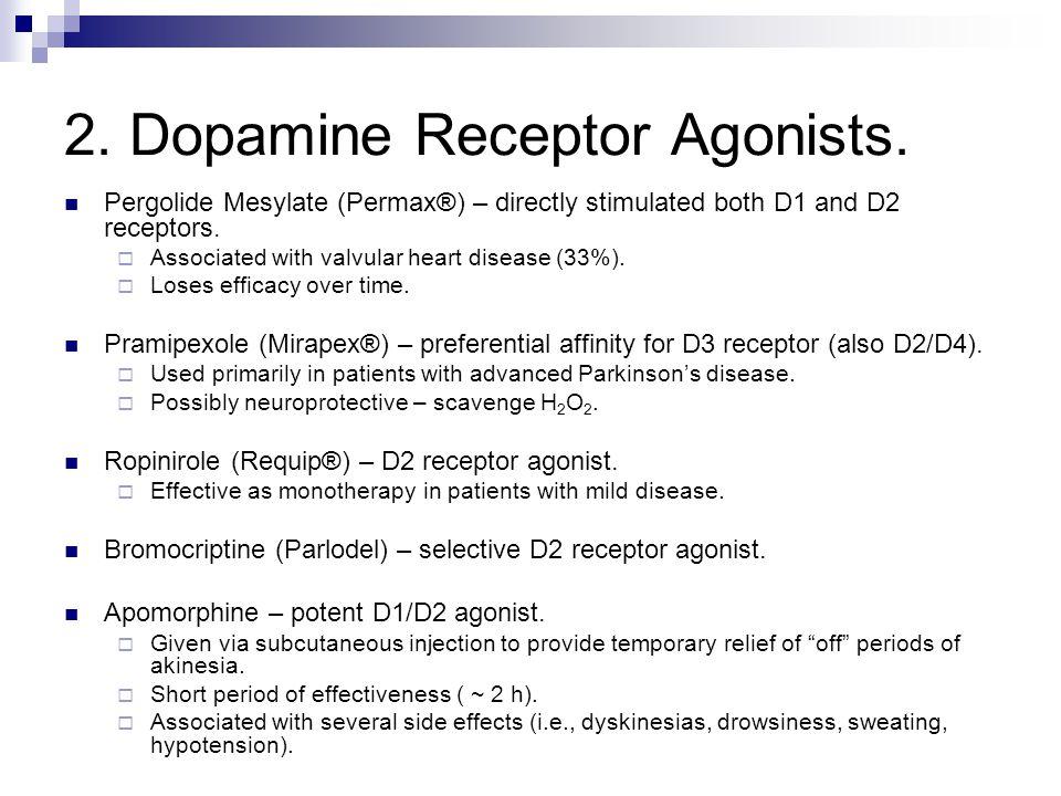 2. Dopamine Receptor Agonists.