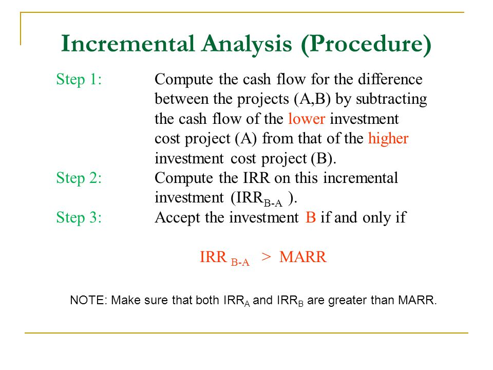 Incremental Analysis (Procedure)