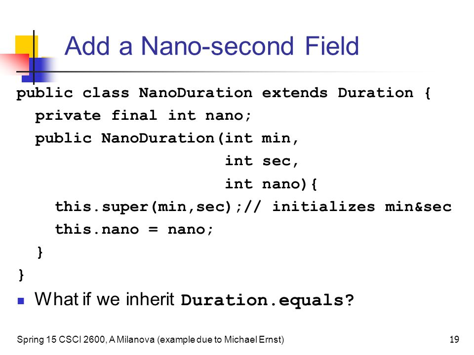Add a Nano-second Field