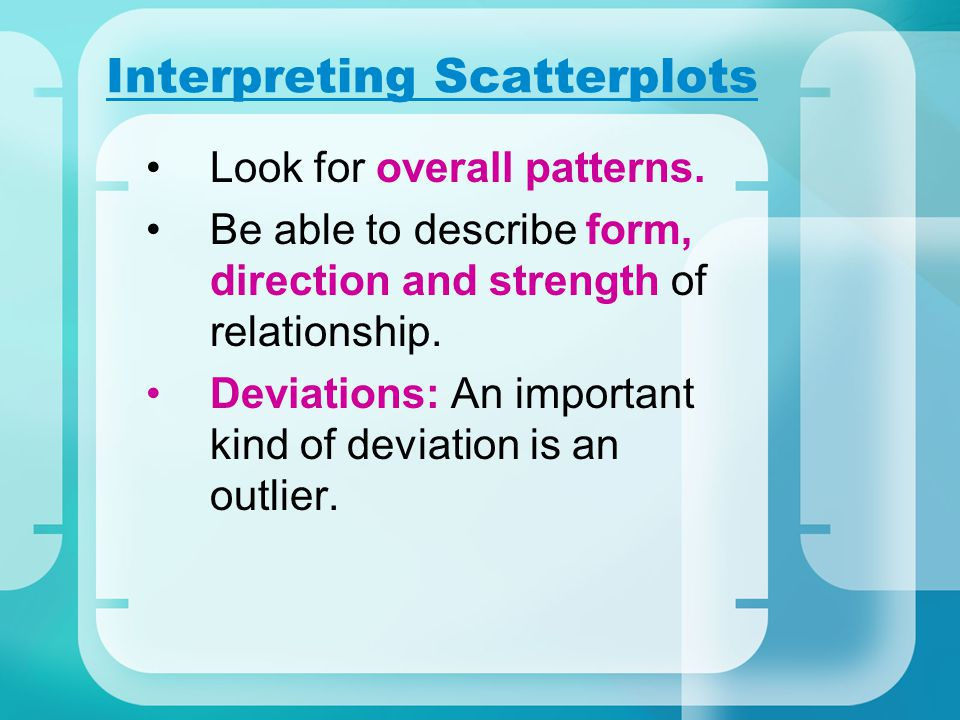 Interpreting Scatterplots
