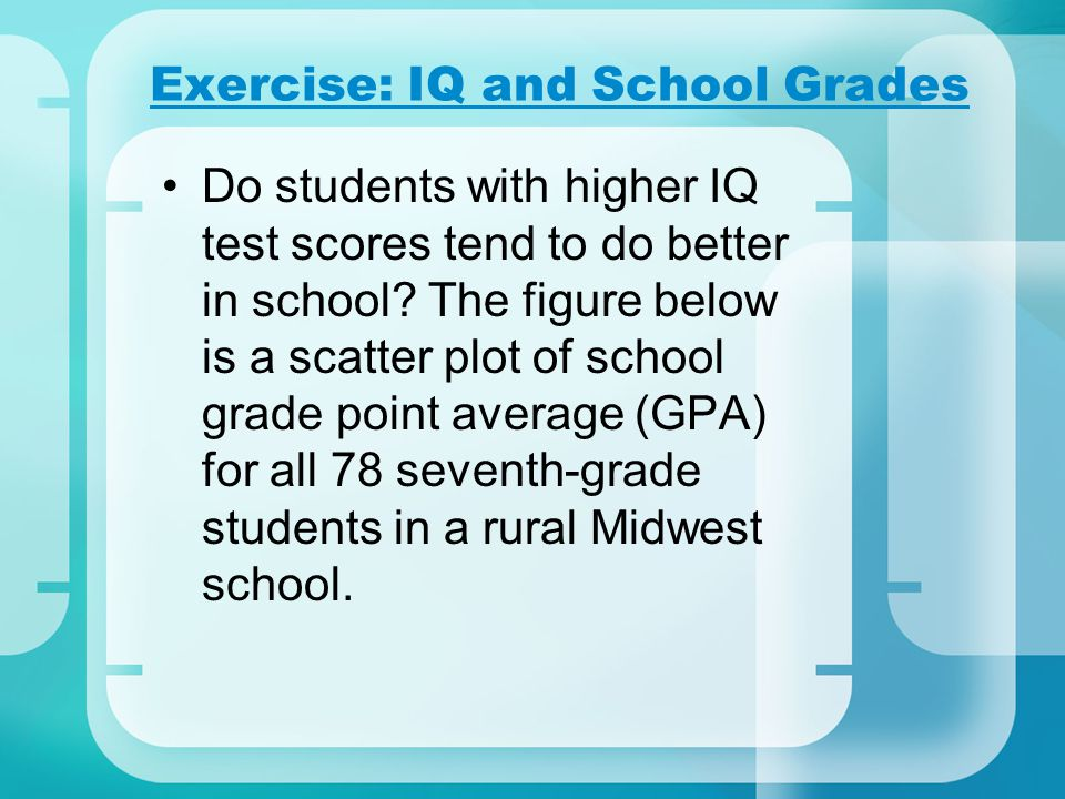 Exercise: IQ and School Grades