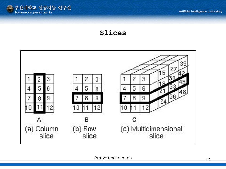 Slices Arrays and records