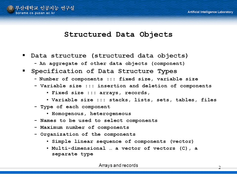 Structured Data Objects