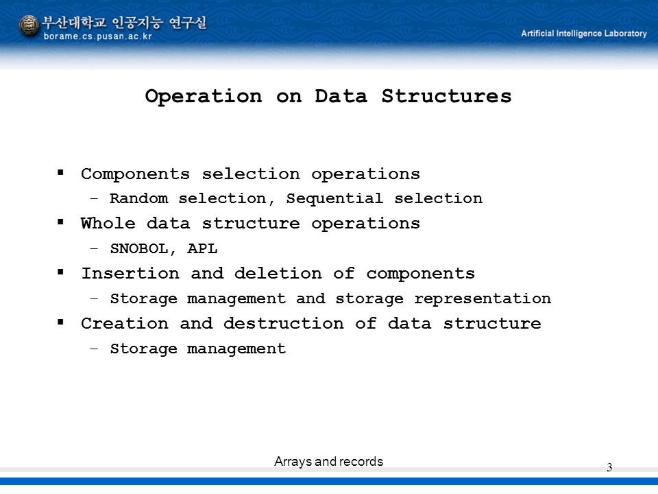 Operation on Data Structures