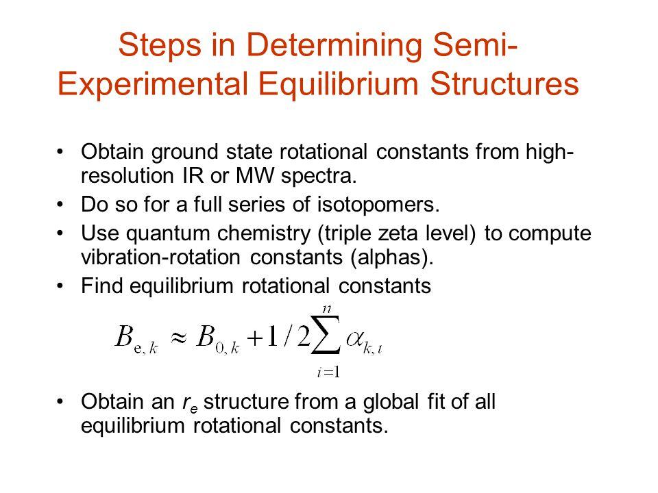Steps in Determining Semi-Experimental Equilibrium Structures