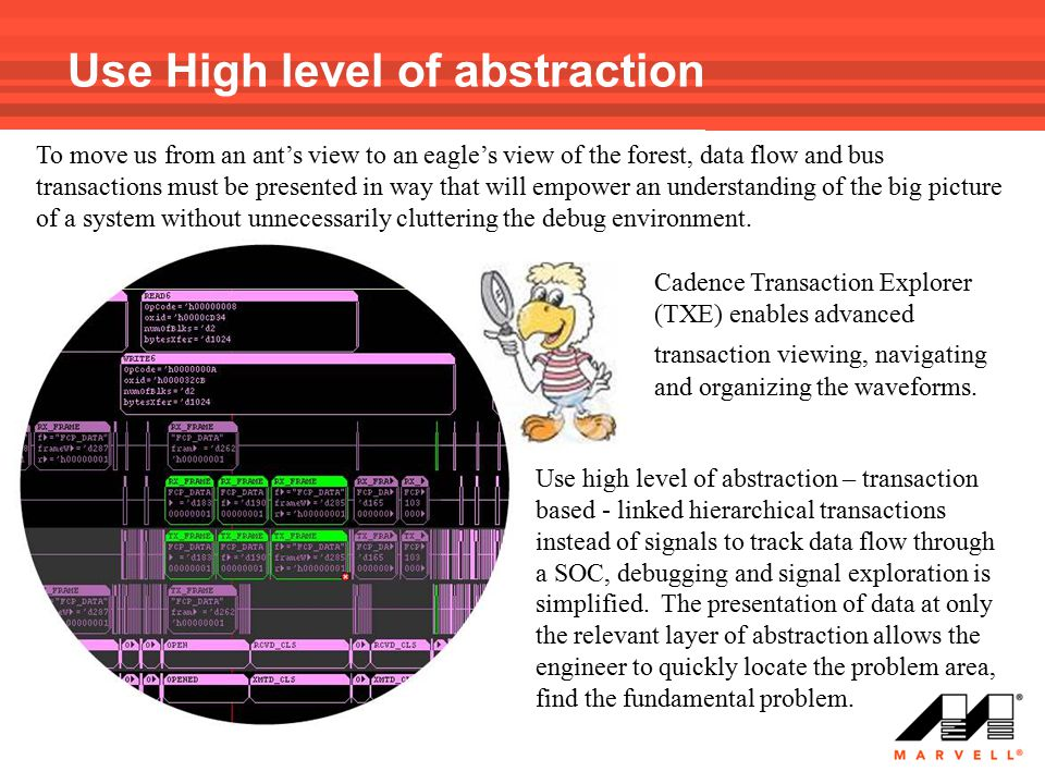 Use High level of abstraction