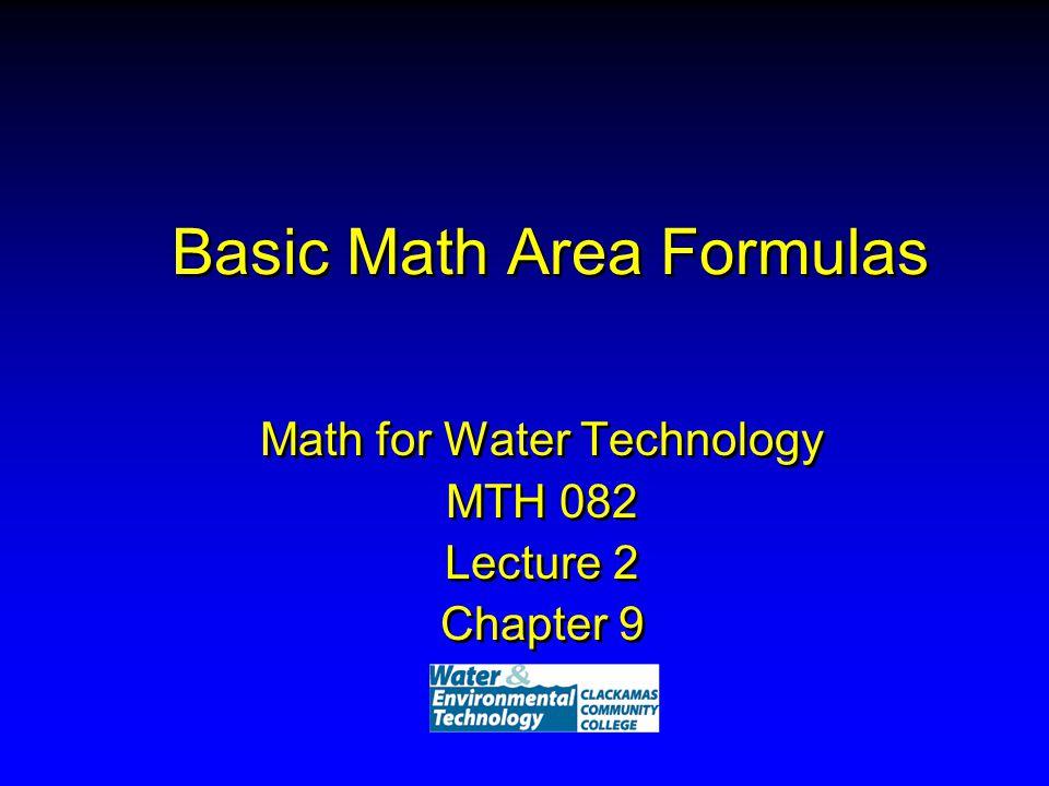Basic Math Area Formulas