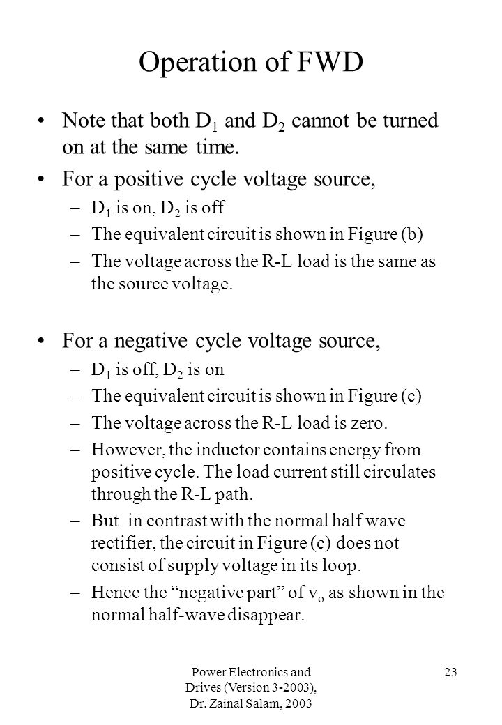 Power Electronics and Drives (Version ), Dr. Zainal Salam, 2003