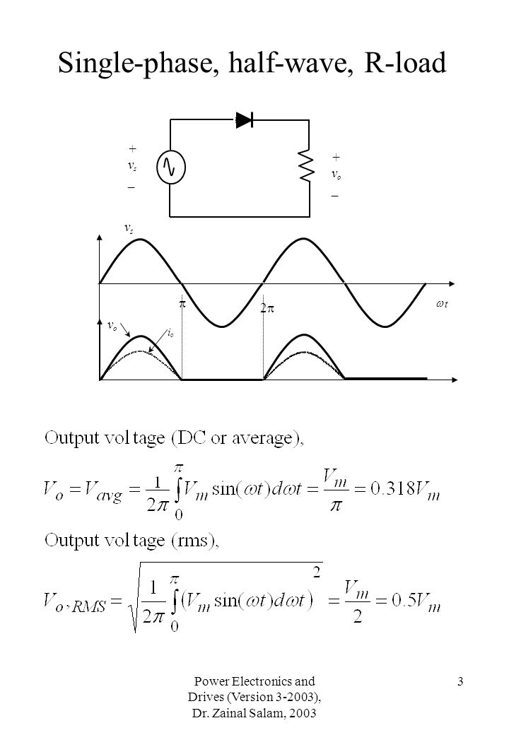 Single-phase, half-wave, R-load