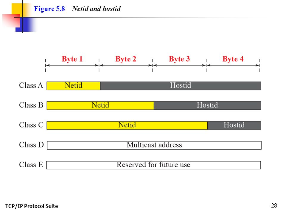 Figure 5.8 Netid and hostid