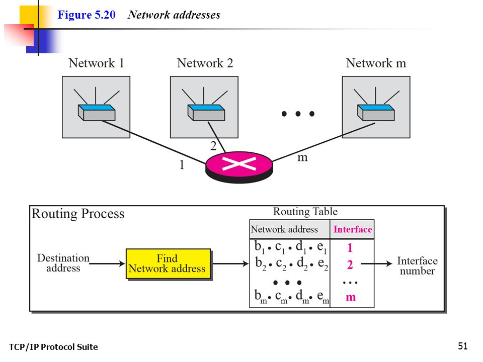 Figure 5.20 Network addresses