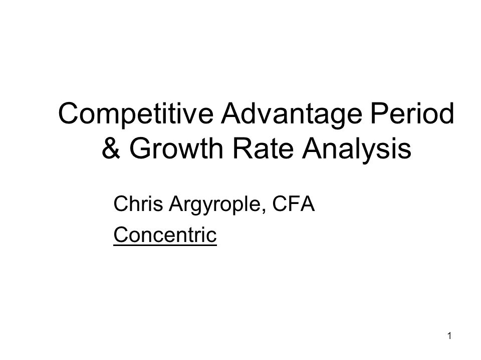 Competitive Advantage Period & Growth Rate Analysis