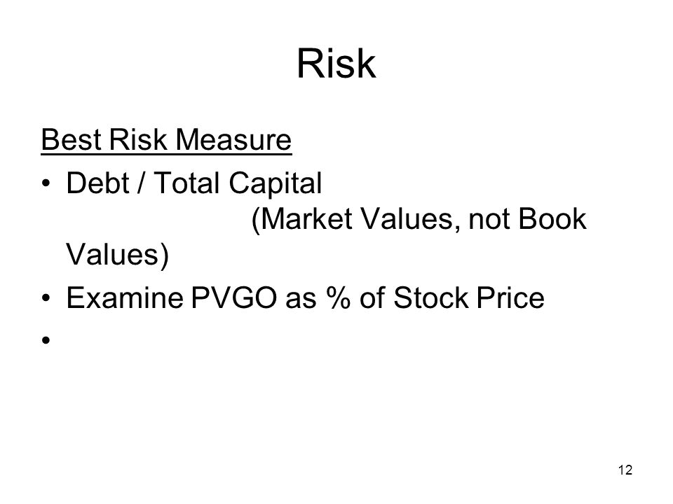 case study on measuring stock market risk Measuring stock market volatility  measuring stock market volatility in an emerging economy  of emerging economies especially where the market consists of risk.