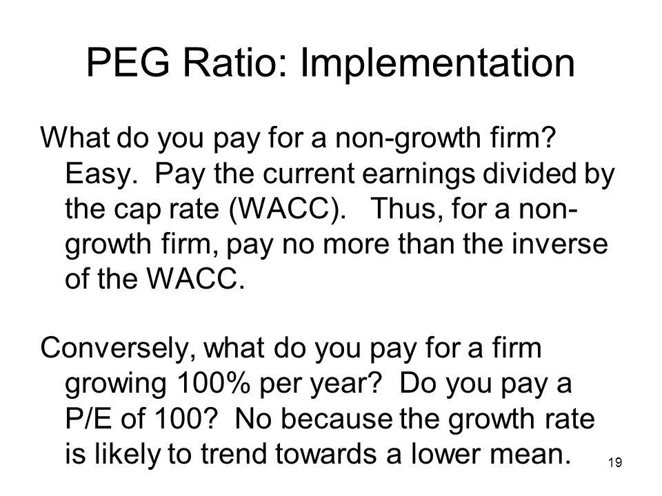 PEG Ratio: Implementation