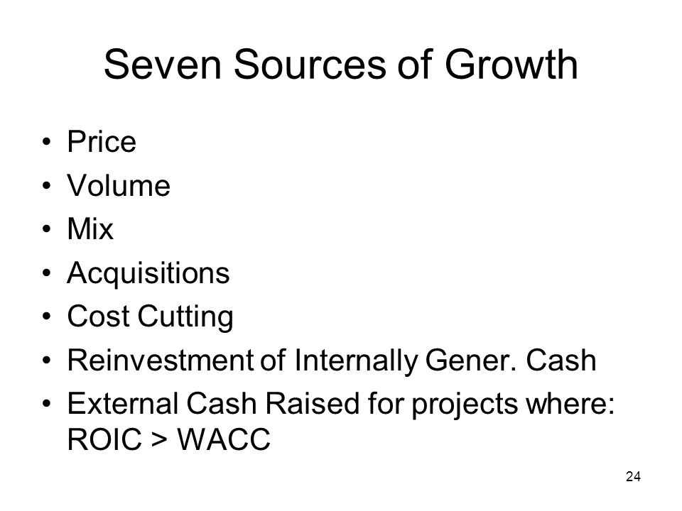 Seven Sources of Growth