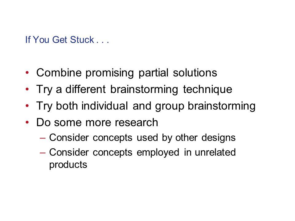 Combine promising partial solutions