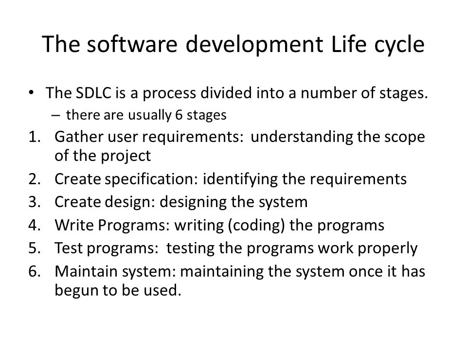The software development Life cycle