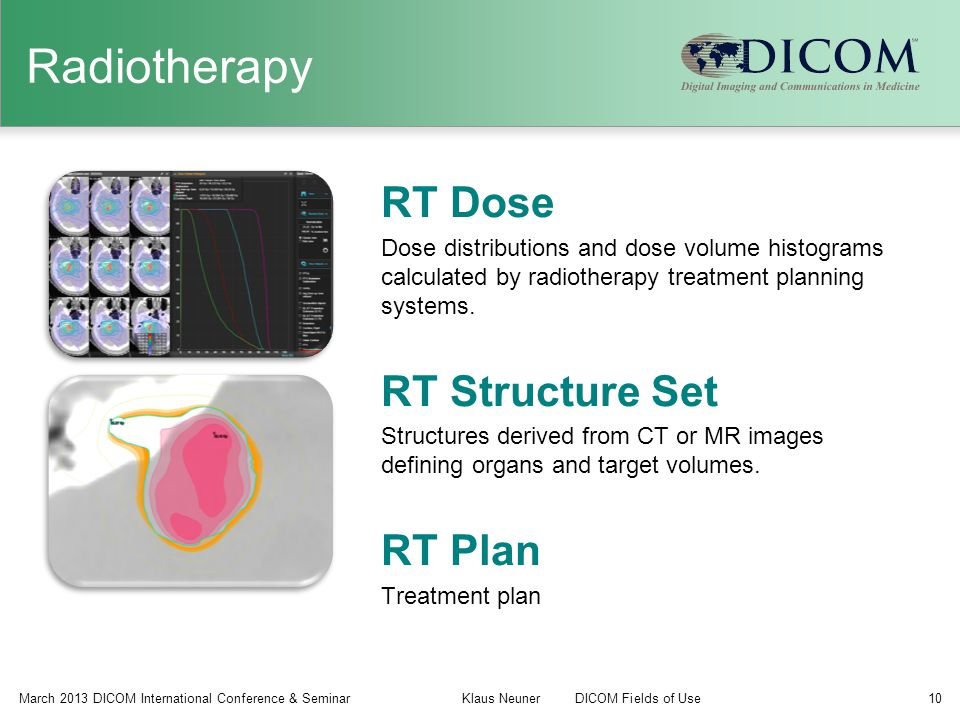 Radiotherapy RT Dose RT Structure Set RT Plan