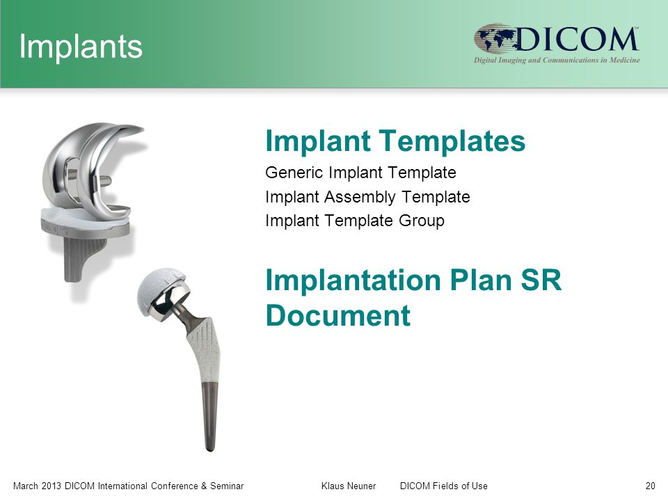 Implants Implant Templates Implantation Plan SR Document