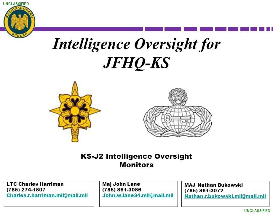 Intelligence Oversight for JFHQ-KS