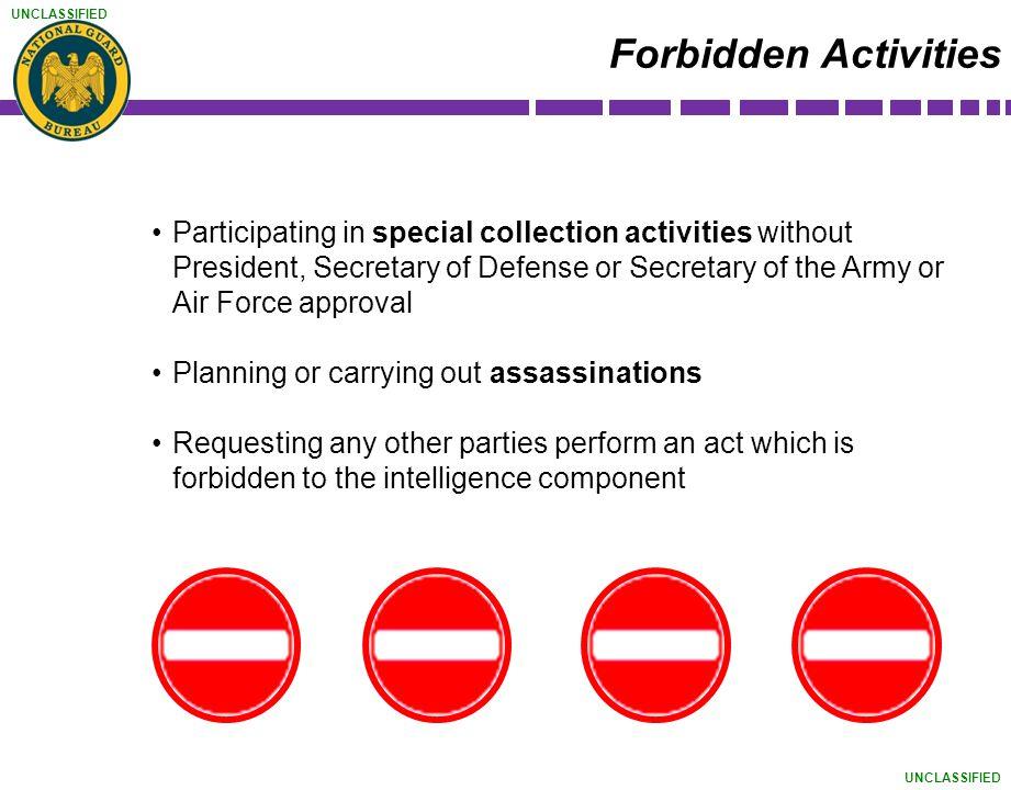 Forbidden Activities